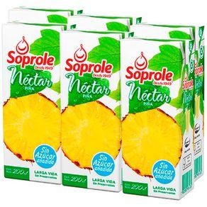 Nectar-Soprole-piña-cajita-6-u-x-200-ml