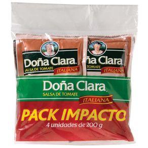 Salsa-de-tomate-Italiana-Doña-Clara-sachet-200gx4