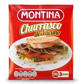 Churrasco Montina 120g (3 unidades)