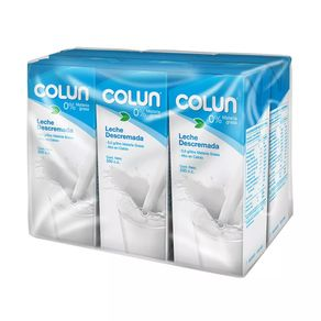 Leche-Descremada-Colun-Pack-6U.-De-200-Ml
