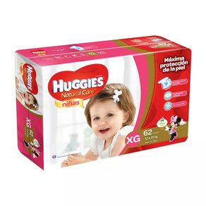 Pañal-Natural-Care-Niña-Huggies-Xg-62-Un