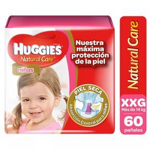 Pañal-Natural-Care-Niña-Huggies-Xxg-60Un