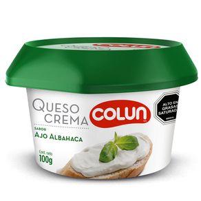Queso-Crema-Colun-Ajo-Albahaca-100-Gr.