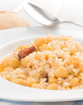 arroz y legumbres