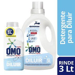 Pack-detergente-liquido-Omo-para-diluir-500-ml---botella-reutilizable-3-litros