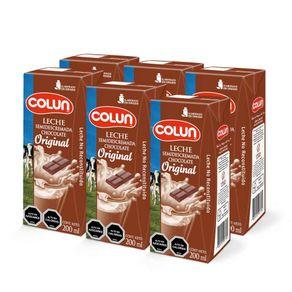 Pack-leche-semidescremada-Colun-original-sabor-chocolate-6-un-de-200-ml