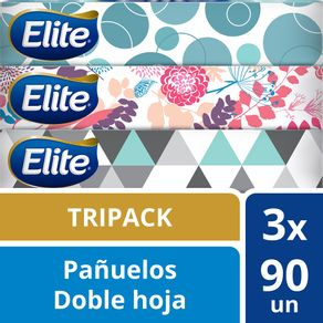 Pañuelos-facial-Elite-90-un-pack-de-3