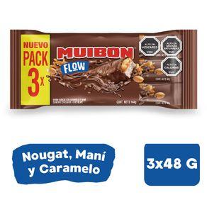 Pack-Barra-de-chocolate-de-leche-Muibon-Flow-nougat-mani-caramelo-3-un-de-48-g