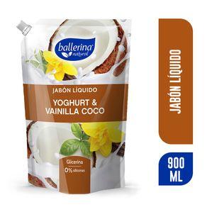 Jabon-liquido-Ballerina-yoghurt-y-vainilla-coco-doypack-900-ml-