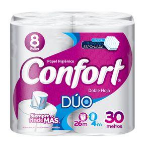 Papel-higienico-Confort-duo-doble-hoja-8-un-de-26-m---tubo-4-m-