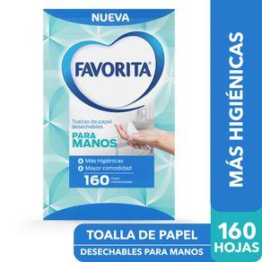 Toalla-de-papel-Favorita-desechables-para-manos-160-hojas-interdobladas