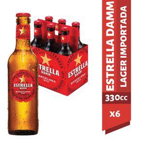 Pack-Cerveza-Estrella-Damm-botella-6-un-de-330-cc