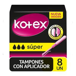 Tampones-Kotex-con-aplicador-Super-8-u