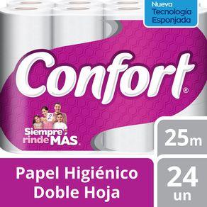 Papel-higienico-Confort-doble-hoja-24-rollos-de-25-m