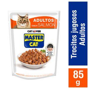 Alimento-humedo-gato-Master-Cat-trocitos-jugosos-salmon-85-g
