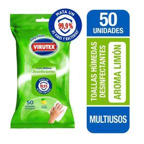 Toallas-humedas-Virutex-desinfectantes-multiuso-aroma-limon-50-un