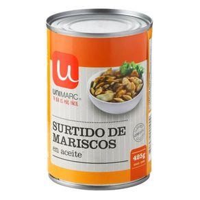 Surtido-de-mariscos-Unimarc-en-aceite-lata-425-g