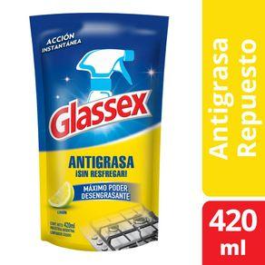 Limpiador-Glassex-antigrasa-limon-doy-pack-420-ml